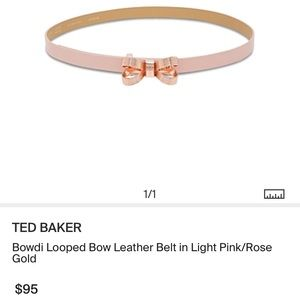 f09618051 Ted Baker Accessories - Ted Baker Rose Gold Pink Bowdi Bow Belt Leather